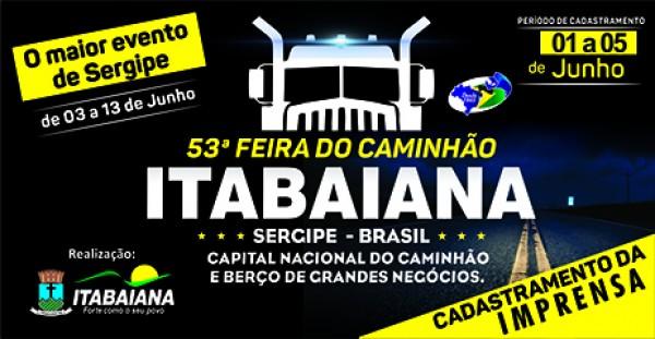 CADASTRAMENTO DE IMPRENSA PARA FESTA DOS CAMINHONEIROS INICIA NESTA SEXTA, 1º DE JUNHO