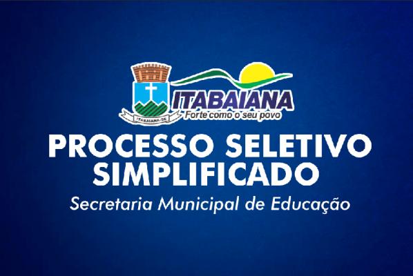 PREFEITURA DE ITABAIANA IRÁ REALIZAR PROCESSO SELETIVO PARA CONTRATAÇÃO DE PROFISSIONAIS PARA SECRETARIA DE EDUCAÇÃO