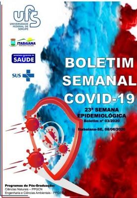 PREFEITURA DE ITABAIANA E UFS DIVULGAM BOLETIM SEMANAL COVID-19 DA 23ª SEMANA EPIDEMIOLÓGICA