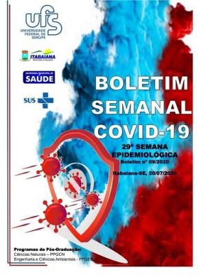 PREFEITURA DE ITABAIANA E UFS DIVULGAM BOLETIM SEMANAL COVID-19 DA 29ª SEMANA EPIDEMIOLÓGICA