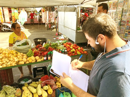 SECRETARIA DE AGRICULTURA REALIZA CADASTRO DE COMERCIANTES NA FEIRA LIVRE DE ITABAIANA