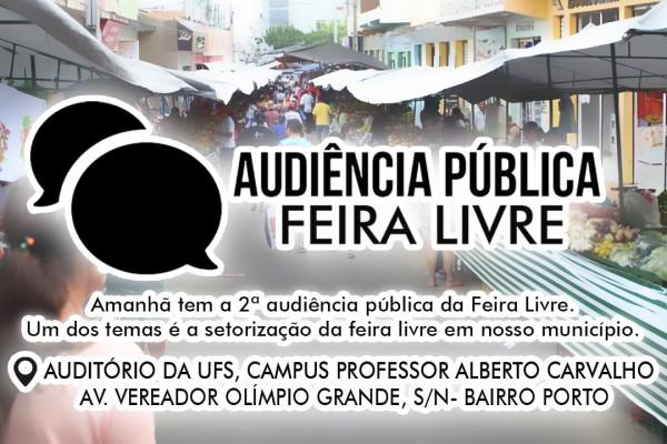 SEGUNDA CHAMADA PÚBLICA SOBRE PADRONIZAÇÃO DE FEIRA LIVRE ACONTECE NESTA TERÇA-FEIRA