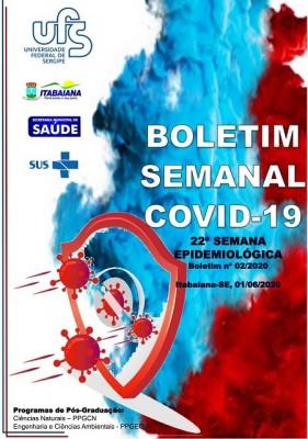 PREFEITURA DE ITABAIANA E UFS DIVULGAM BOLETIM SEMANAL COVID-19 DA 22ª SEMANA EPIDEMIOLÓGICA
