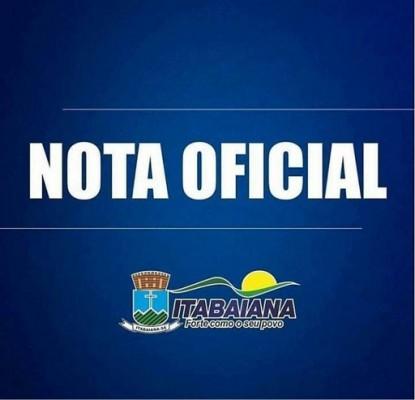 NOTA OFICIAL – PREFEITURA DE ITABAIANA FAZ ESCLARECIMENTOS SOBRE O ISOLAMENTO SOCIAL