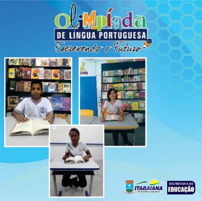 MAIS DOIS ALUNOS DA REDE MUNICIPAL DE ENSINO ESTÃO NA OLIMPÍADA DE LÍNGUA PORTUGUESA