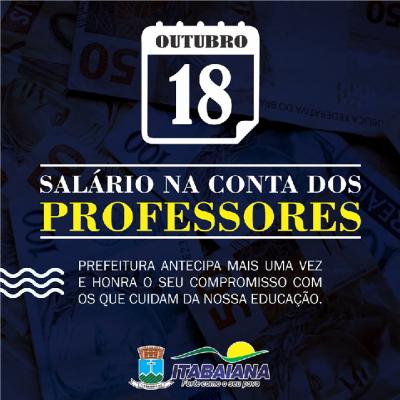 PREFEITURA ANTECIPA PAGAMENTO DOS PROFESSORES