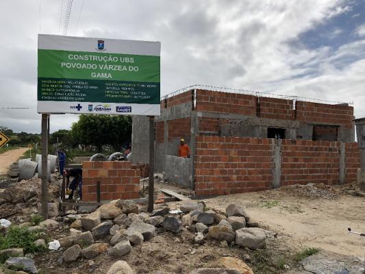 TRABALHOS DE CONSTRUÇÃO DE UBS NO POVOADO VÁRZEA DO GAMA SEGUEM EM RITMO ACELERADO