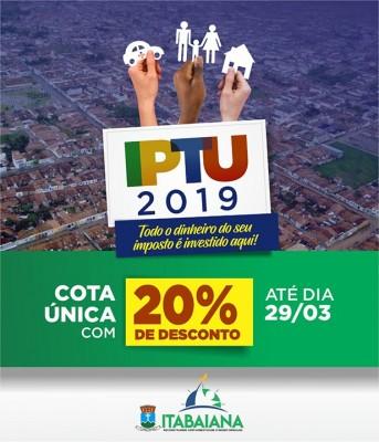 CONTRIBUINTES DEVEM FICAR ATENTOS AOS PRAZOS PARA PAGAMENTO DO IPTU 2019