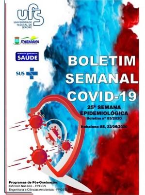 PREFEITURA DE ITABAIANA E UFS DIVULGAM BOLETIM SEMANAL COVID-19 DA 25ª SEMANA EPIDEMIOLÓGICA